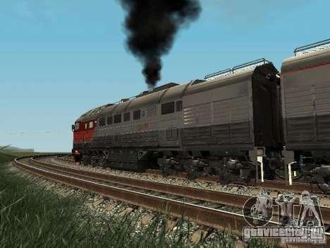 2ТЭ116У - 0040 РЖД для GTA San Andreas вид сзади