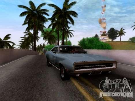 Dodge Charger RT для GTA San Andreas вид сзади слева