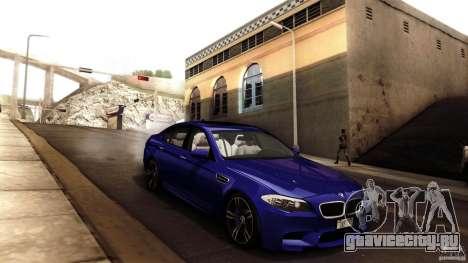 BMW M5 F10 2012 для GTA San Andreas салон