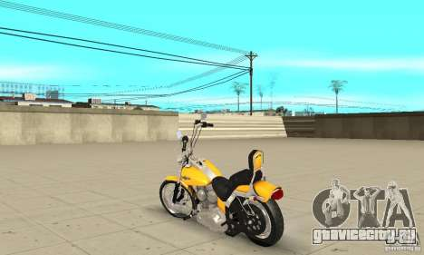 Harley Davidson softail Skin 1 для GTA San Andreas вид сзади слева
