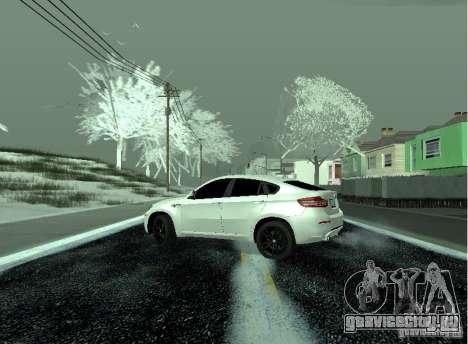 BMW X6M E72 для GTA San Andreas вид сзади слева