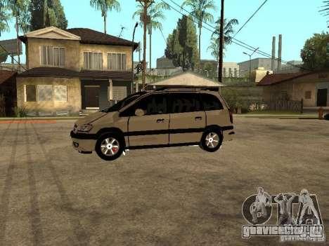 Opel Zafira для GTA San Andreas вид слева