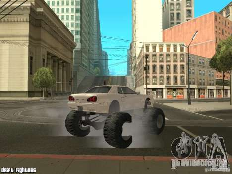 Elegy Monster для GTA San Andreas вид сзади