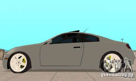 Nissan Skyline 350GT 2003 для GTA San Andreas вид сзади слева