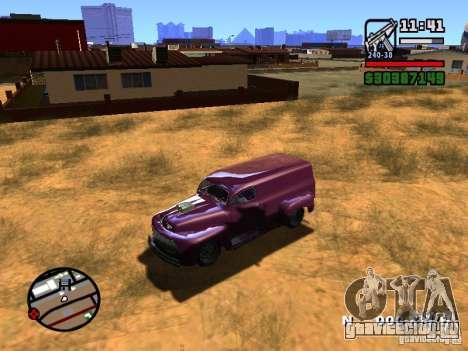 49 Ford HR Van для GTA San Andreas вид сзади