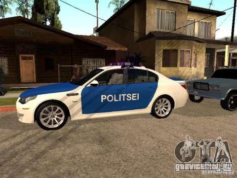 BMW 5-er Police для GTA San Andreas вид слева