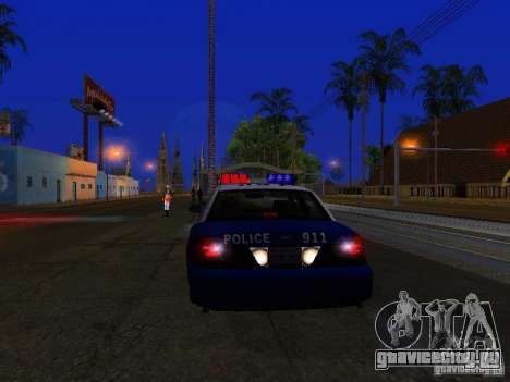 Ford Crown Victoria Belling State Washington для GTA San Andreas вид изнутри