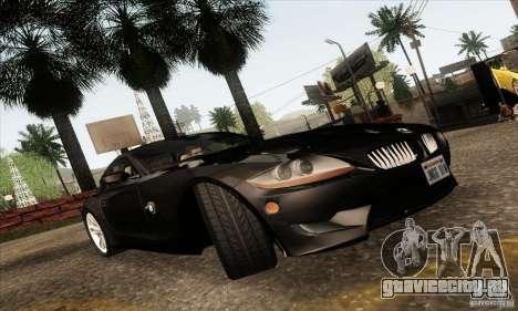 BMW Z4M для GTA San Andreas вид изнутри
