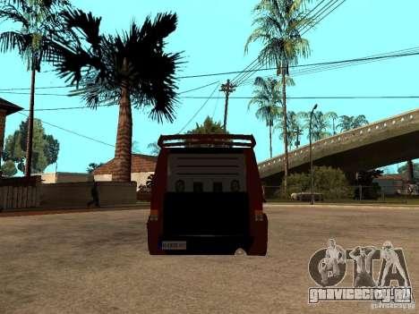 Ford Transit Tuning для GTA San Andreas вид сзади слева