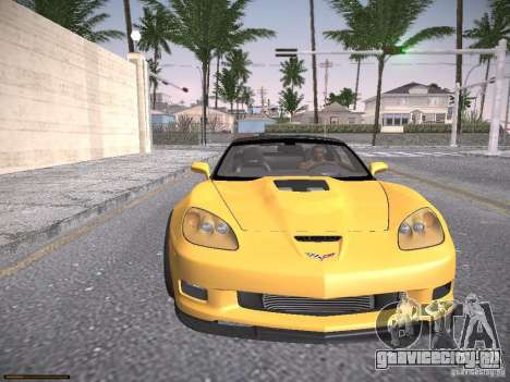 Chevrolet Corvette ZR1 для GTA San Andreas вид сбоку