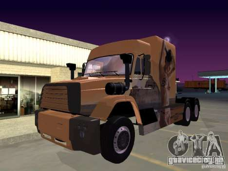 СуперЗиЛ v.1.0b для GTA San Andreas вид сзади слева