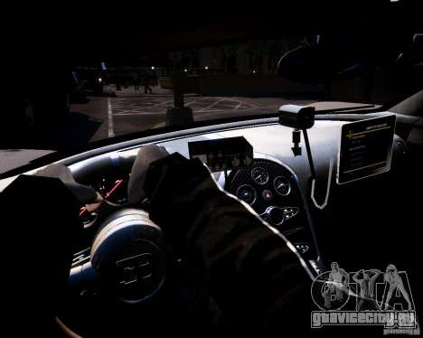Bugatti Veryon SS COP для GTA 4 вид сзади