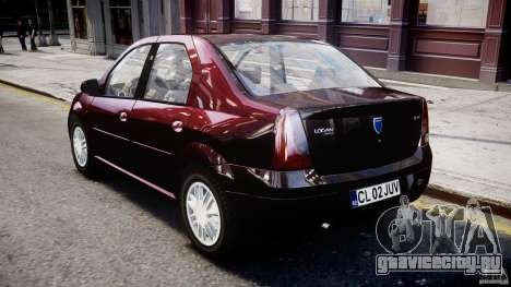 Dacia Logan 2007 Prestige 1.6 для GTA 4 вид справа