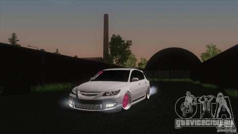 Mazda MazdaSpeed 3 для GTA San Andreas вид сзади