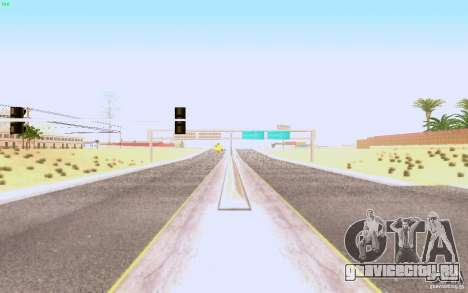 HQ Асфальт в Лас-Вентурасе для GTA San Andreas второй скриншот