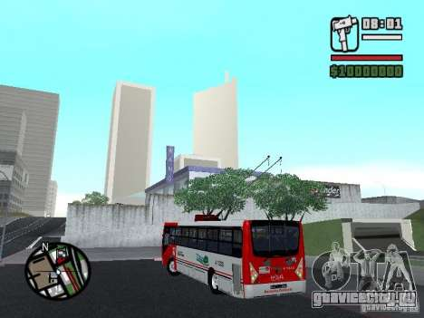 Caio Millennium TroleBus для GTA San Andreas вид слева