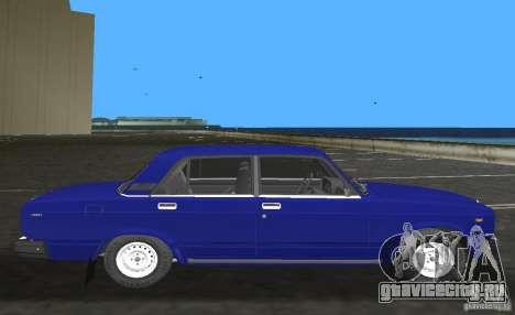 ВАЗ 2107 Жигули для GTA Vice City вид слева