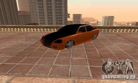 Лада Приора для GTA San Andreas вид сзади