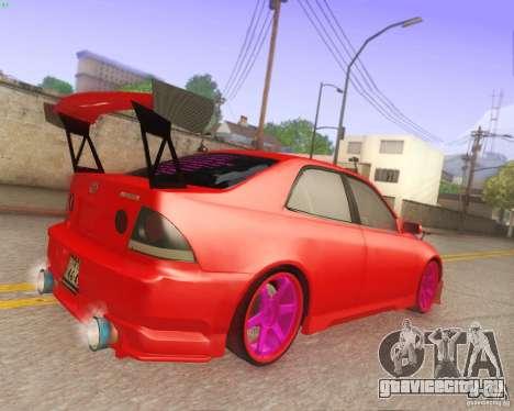 Toyota Altezza Drift Style v4.0 Final для GTA San Andreas вид изнутри
