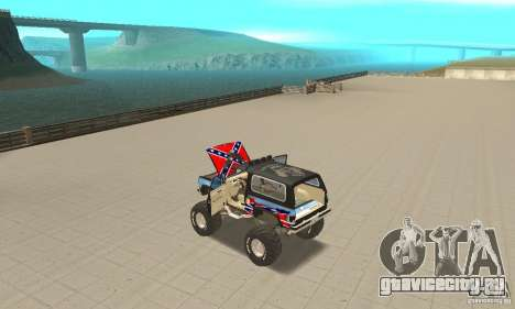 Chevrolet Blazer K5 Monster Skin 1 для GTA San Andreas вид изнутри