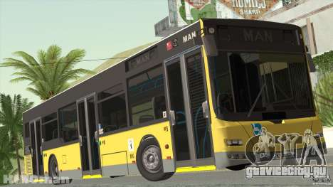 MAN Lion City для GTA San Andreas вид сзади слева