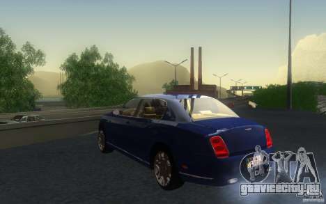 Bentley Continental Flying Spur для GTA San Andreas вид изнутри