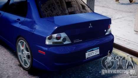 Mitsubishi Lancer Evolution VIII для GTA 4 двигатель