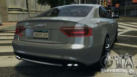 Audi S5 v1.0 для GTA 4 вид сзади слева