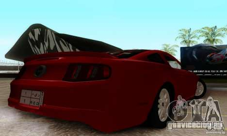 Ford Mustang 2010 для GTA San Andreas вид сзади слева