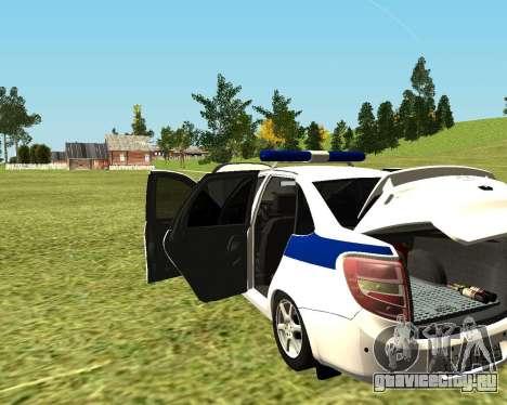 ВАЗ 2190 Полиция для GTA San Andreas вид справа