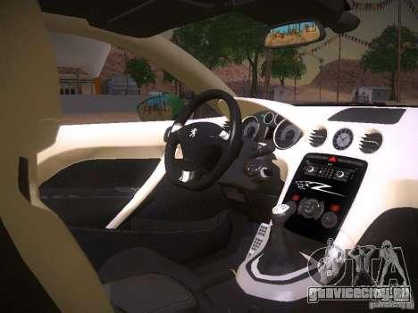 Peugeot RCZ 2010 для GTA San Andreas вид сзади
