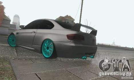 BMW M3 E92 Hellaflush v1.0 для GTA San Andreas вид сзади