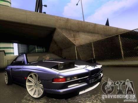 BMW 850 CSI для GTA San Andreas вид изнутри