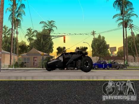 Tumbler Batmobile 2.0 для GTA San Andreas вид слева