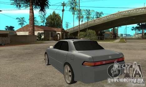 TOYOTA MARK II GT для GTA San Andreas вид сзади слева