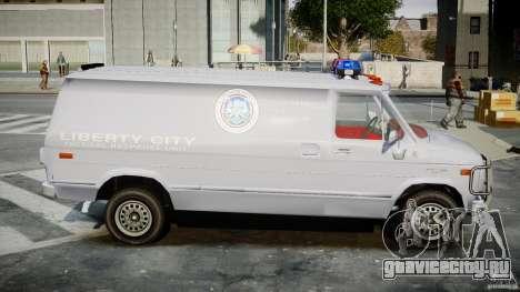 Chevrolet G20 Police Van [ELS] для GTA 4 вид сзади