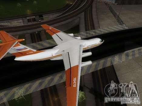 ИЛ-76ТД для GTA San Andreas вид сзади слева