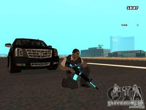 Black & Blue guns для GTA San Andreas четвёртый скриншот