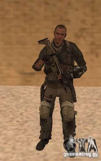Юрий из Call of Duty Modern Warfare 3 для GTA San Andreas второй скриншот