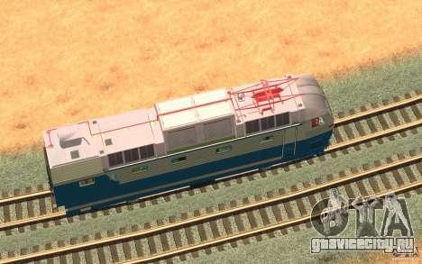Локомотив ChS7-082 для GTA San Andreas вид изнутри