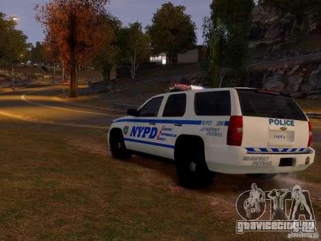 Chevrolet Tahoe New York Police для GTA 4 вид справа
