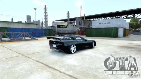 Chevrolet Corvette C6 Convertible v1.0 для GTA 4 вид снизу