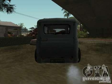 Автомобиль Второй Мировой Войны для GTA San Andreas вид сзади слева