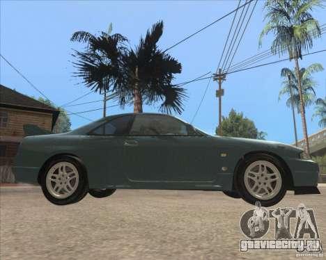 Nissan Skyline GT-R BNR33 для GTA San Andreas вид сзади слева