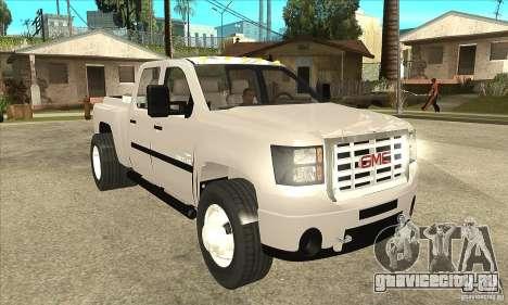 GMC 3500 HD Sierra Duramax Diesel 2010 для GTA San Andreas вид сзади