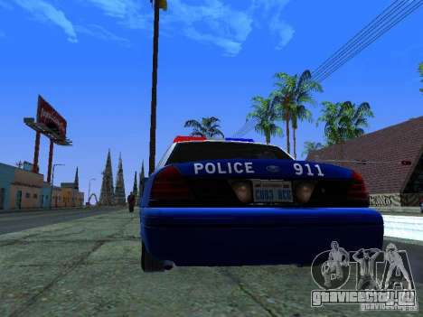 Ford Crown Victoria Belling State Washington для GTA San Andreas вид справа