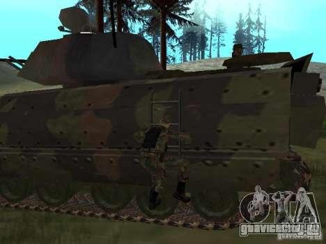 M2A3 Bradley для GTA San Andreas вид сзади