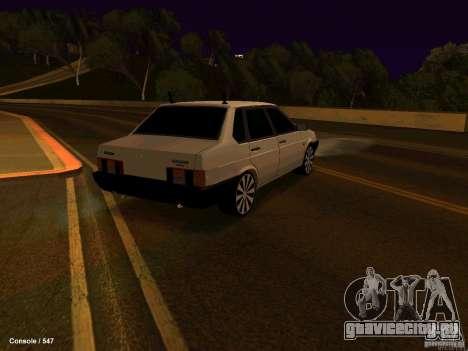 ВАЗ 21099 для GTA San Andreas вид сзади