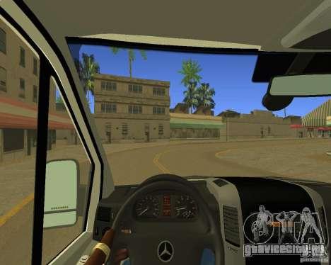 Mercedes Benz Sprinter NYPD police для GTA San Andreas вид изнутри