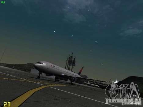 Boeing 767-400ER Delta Airlines для GTA San Andreas вид слева